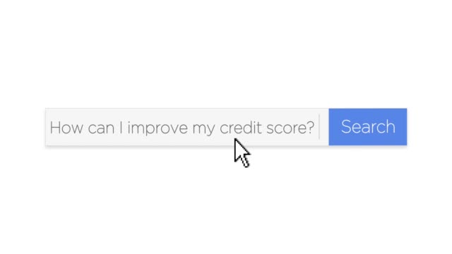 Web Search Box with Credit Score Improvement Question video