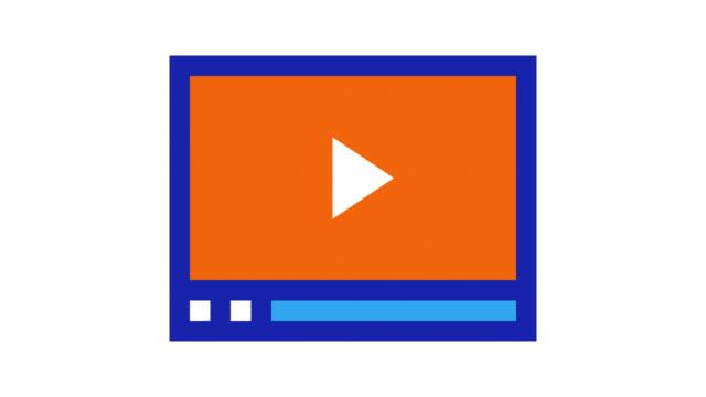 webinar glitch effect icon animation with alpha - didattica a distanza video stock e b–roll
