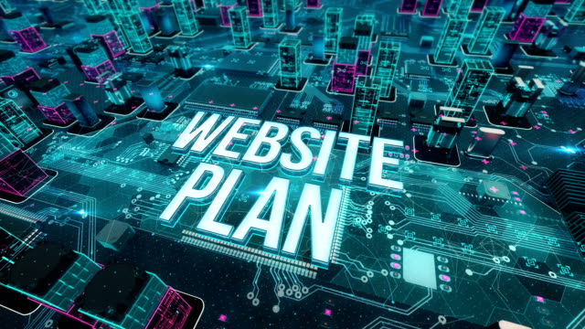 Website plan with digital technology concept