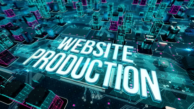 Website production with digital technology concept