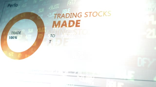 Website Software Application Animation Series - Generic Stock Trading Website with Ticker overlay V1