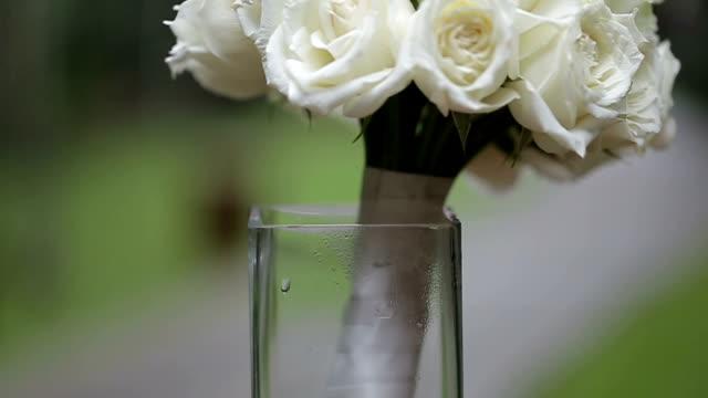 Wedding bouquet of fresh flowers. video