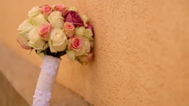 bouquet da sposa  - 2016 video stock e b–roll