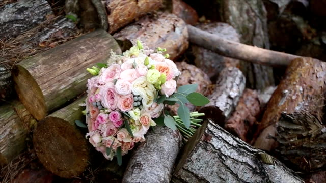 Wedding bouquet with nature video