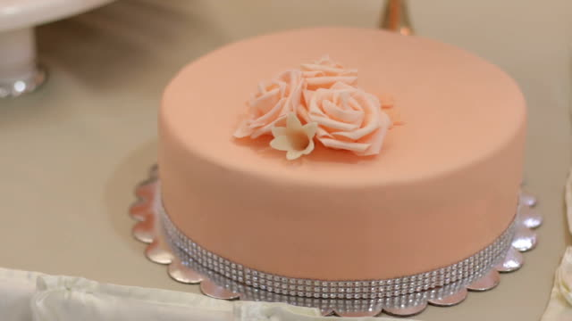 Wedding cake with flower arrangements