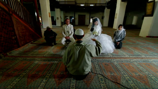 Wedding Ceremony of Crimean Tatars in Mosque video