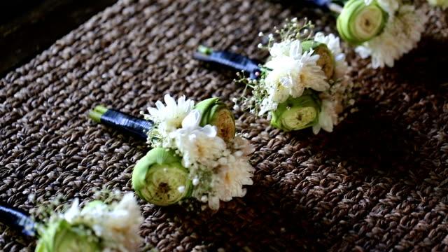 Wedding corsage. video