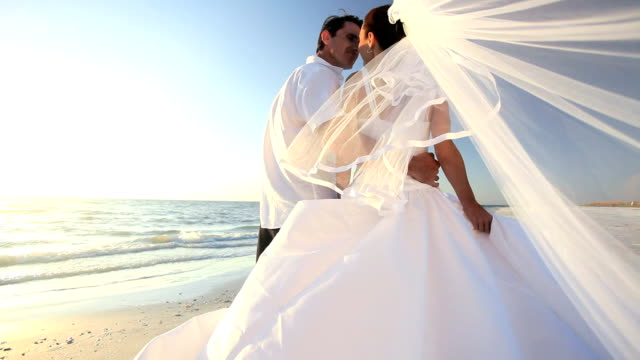 Wedding Couple on the Beach video