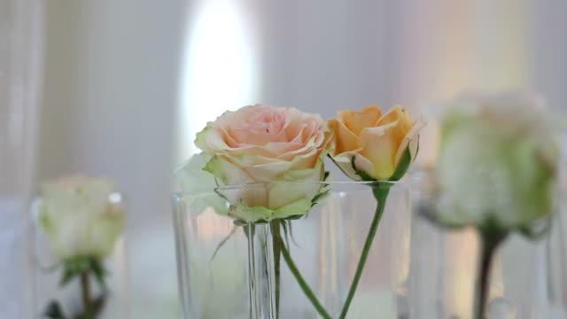 Wedding decor details on wedding reception