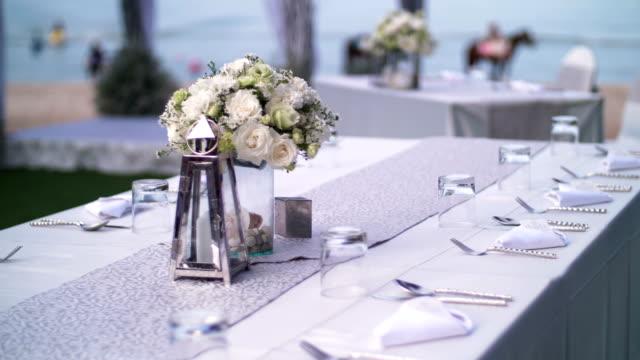 vidéos et rushes de décoration de mariage - vaisselle picto