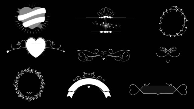 Wedding decoration animation video