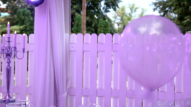 Wedding decoration with balloons video
