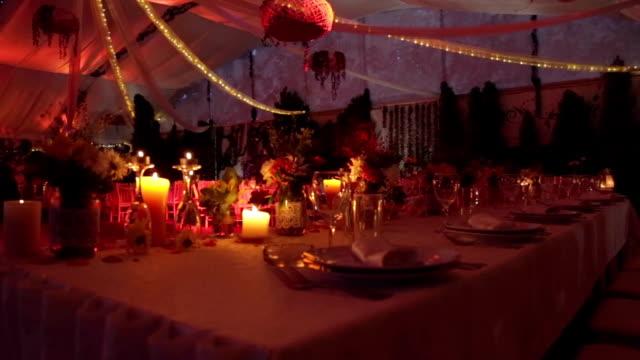 Tabla de cena de la boda - vídeo