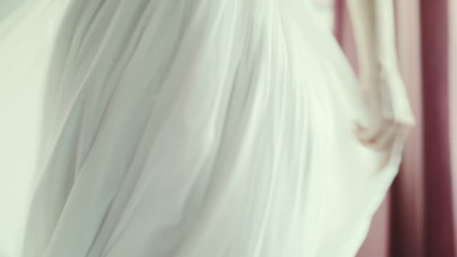 Wedding dress detail. Bride's dress, close-up. Details of the wedding dress of the bride. dress stock videos & royalty-free footage