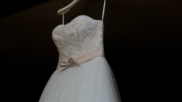 Wedding Dress silider bay window stock videos & royalty-free footage