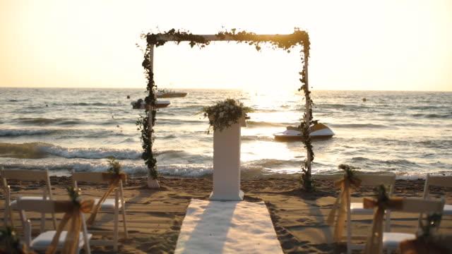 vidéos et rushes de événement de mariage sur la plage - ambiance événement