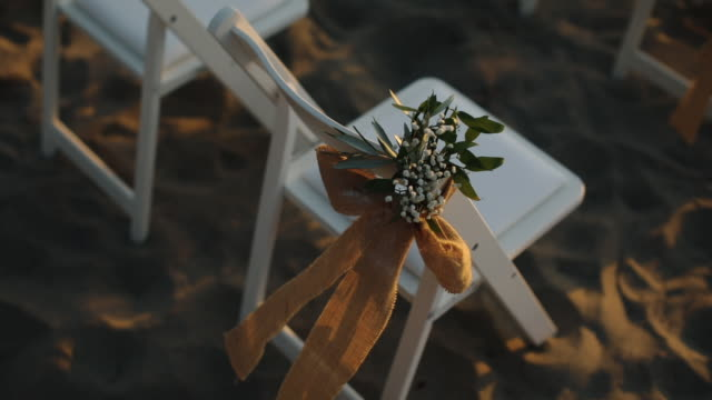Wedding Event in the Beach there is a footage that's about wedding event in a beach. chair stock videos & royalty-free footage