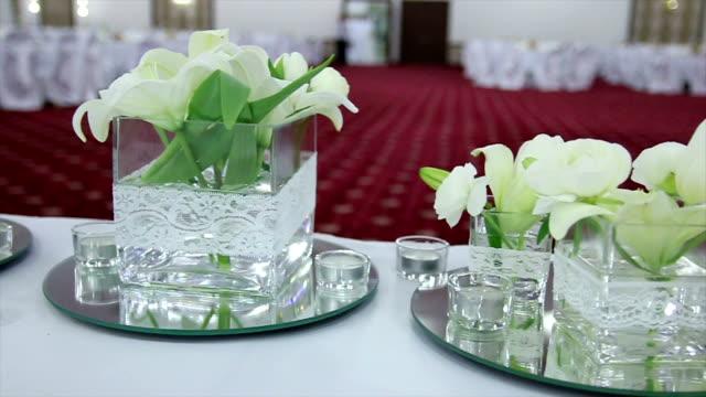 fiori nuziali - trillium video stock e b–roll