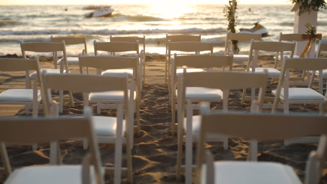 Wedding in the Beach there is a footage that's about wedding ceremony in the beach. wedding stock videos & royalty-free footage