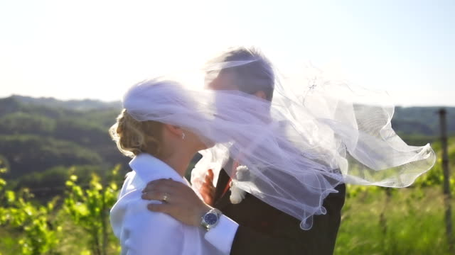 HD SUPER SLOW-MO: Wedding Kiss video
