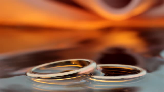 Wedding Rings at Sunset video