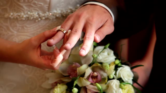 Wedding rings, Certificate And Bouquet video