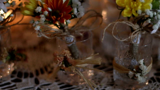Wedding roses and candle video