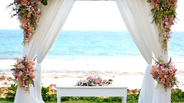 Wedding set up. Wedding set up inside the ocean. wedding stock videos & royalty-free footage
