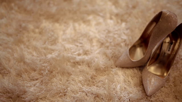 wedding shoes - wedding fashion stock videos and b-roll footage