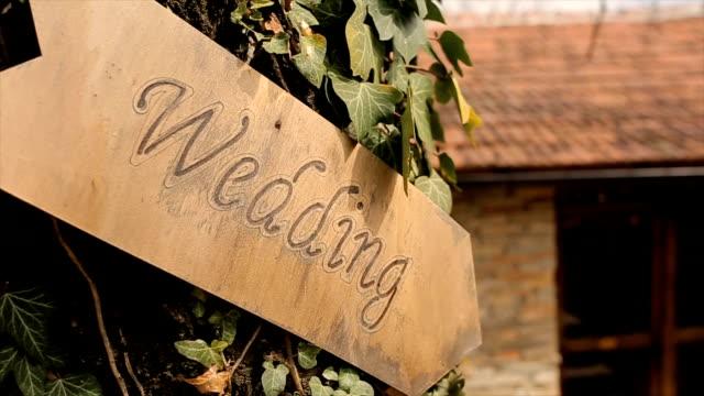 Signo de boda, romántica - vídeo