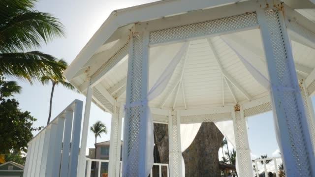 Wedding tent on the beach