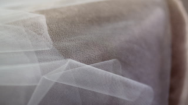 Wedding veil on bed video