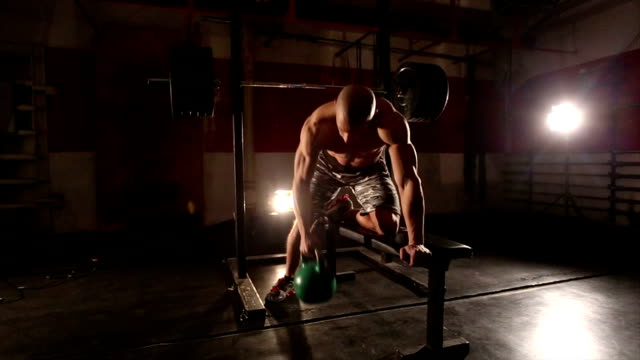 Weight lifting video