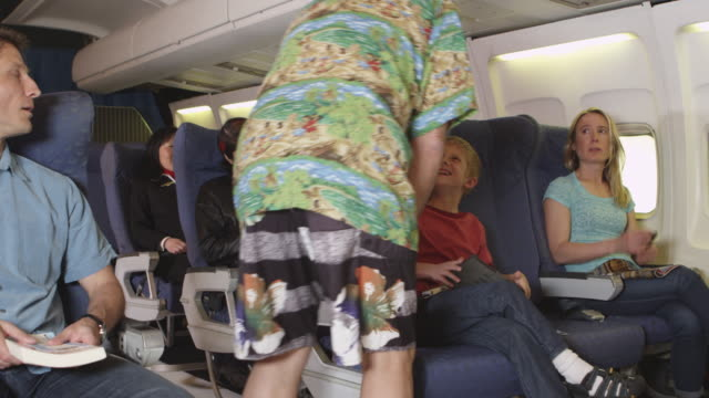 Weird wrestler boarding plane video