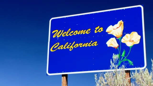 Welcome to California sign Close Up video