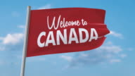 istock Welcome to Canada waving flag (luma matte included so you can put your own background) 1177127208