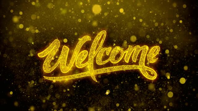 歡迎歡迎問候卡、邀請、慶祝煙花 - thank you background 個影片檔及 b 捲影像