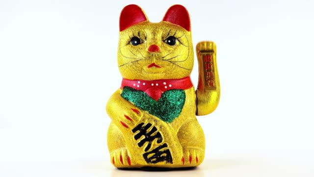 vídeos de stock e filmes b-roll de gato-vindas - cultura chinesa