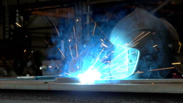 A welder at work video