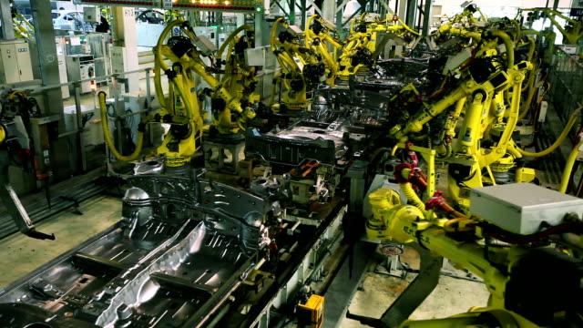 welder robot - metallindustri bildbanksvideor och videomaterial från bakom kulisserna
