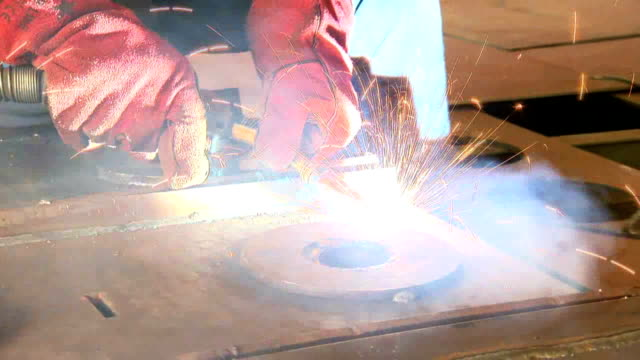 Welder with Welding Electrode Manual Worker electrode stock videos & royalty-free footage