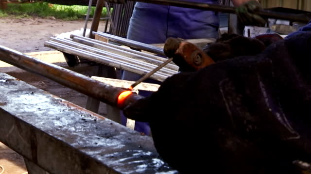 Welding of metals  in the workshop video