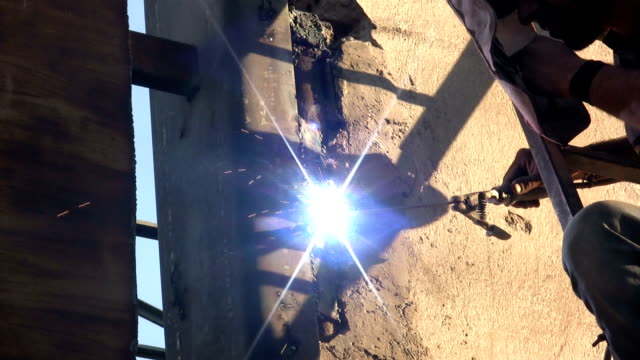 welding welding. HD 1080i pipefitter videos stock videos & royalty-free footage