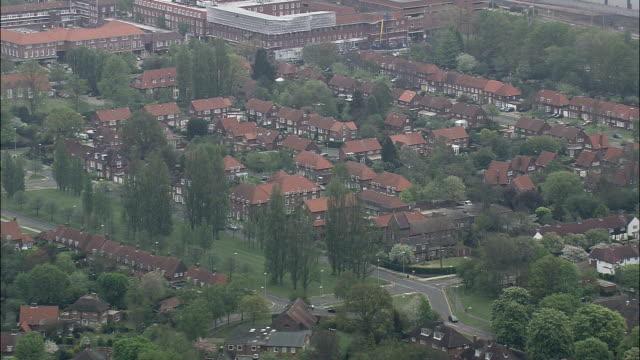 Welwyn Garden City  - Aerial View - England, Hertfordshire, Welwyn Hatfield, United Kingdom video