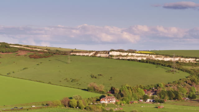 west beeding and the south downs - drone shot - south downs video stock e b–roll
