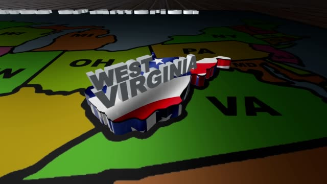 West Virginia pull out from USA states abbreviations map video