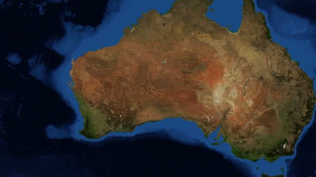 WA - Western Australia from space - zoom video