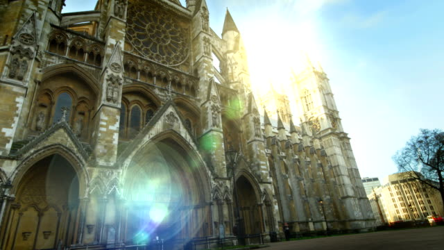Westminster Abbey time-lapse. HD video