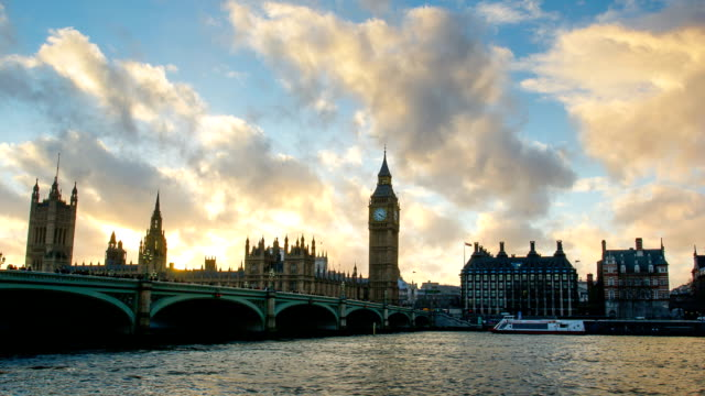 Westminster and Big Ben, London, UK, time lapse video