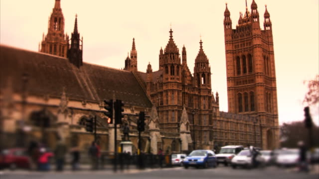 Westminster and Houses of Parliament, London, timelapse (HD) video